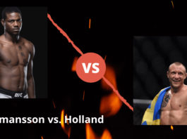 UFC Fight Night - Hermansson vs Holland